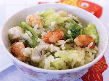 JAあわじ島の特産品レシピ「キャベツとシーフードのリゾット」