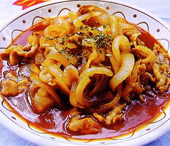 JAあわじ島の特産品レシピ「豚肉とたまねぎのストロガノフ風」