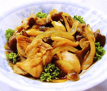 JAあわじ島の特産品レシピ「鶏肉とキノコのうま煮」