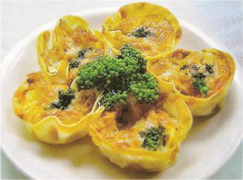 JAあわじ島の特産品レシピ「新たまねぎのカップチーズ焼き」