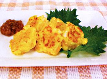 JAあわじ島の特産品レシピ「新たまねぎのふわふわ焼き(梅しょうゆ)」