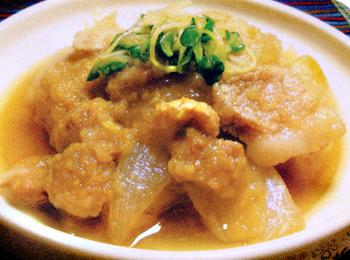 JAあわじ島の特産品レシピ「梨とたまねぎのとんとん煮」