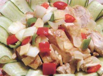 JAあわじ島の特産品レシピ「鶏肉のカレーマリネ」