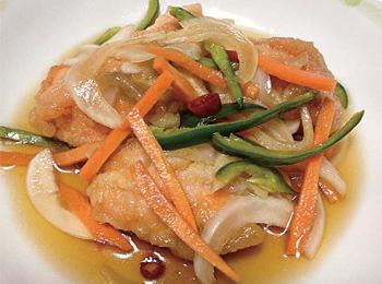 JAあわじ島の特産品レシピ「鮭の南蛮漬け」