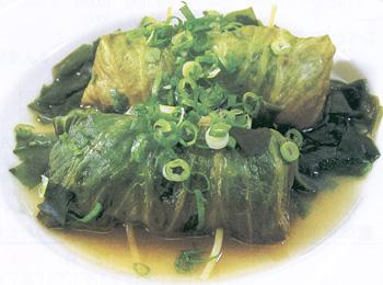 JAあわじ島の特産品レシピ「ロールレタスのすっぱからスープ」