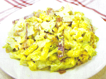 JAあわじ島の特産品レシピ「サツマイモとレタスのサラダ」