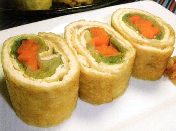 JAあわじ島の特産品レシピ「レタスの揚げ巻き」