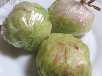 JAあわじ島の特産品レシピ「五目寿司のレタス包み」