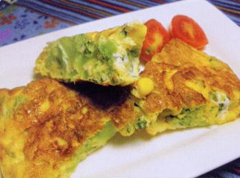 JAあわじ島の特産品レシピ「ブロッコリーのオムレツ」