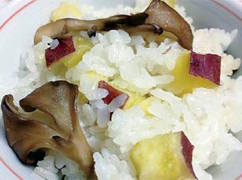 JAあわじ島の特産品レシピ「サツマイモと舞茸の秋ご飯」