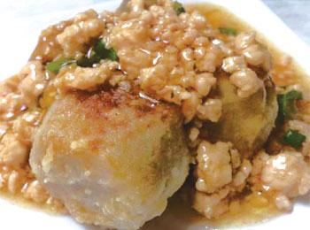 JAあわじ島の特産品レシピ「里芋のそぼろあんかけ」