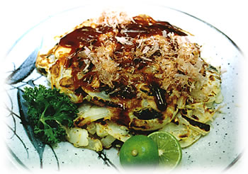 JAあわじ島の特産品レシピ「たまねぎのお好み焼き」