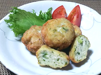 JAあわじ島の特産品レシピ「きゅうりナゲット」