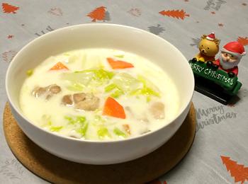 JAあわじ島の特産品レシピ「はくさいのミルク煮」