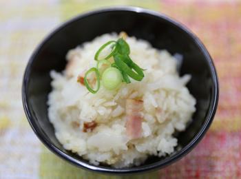 JAあわじ島の特産品レシピ「新たまゴロリの洋風炊き込みご飯」