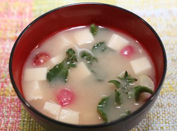 JAあわじ島の特産品レシピ「アイスプラントのシャキシャキ味噌汁」