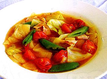 JAあわじ島の特産品レシピ「春野菜たっぷりスープ」