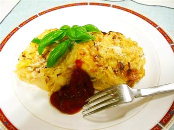 JAあわじ島の特産品レシピ「キャベツと玉葱・ポテトのお好風グラタン」