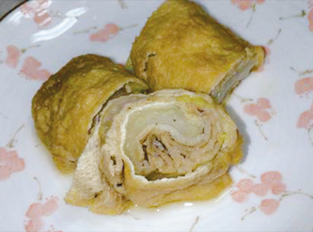 JAあわじ島の特産品レシピ「揚げの豚肉巻」