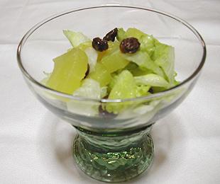 JAあわじ島の特産品レシピ「レタスとパイナップルのはちみつ漬け」