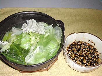 JAあわじ島の特産品レシピ「レタスと豚肉の常夜鍋」