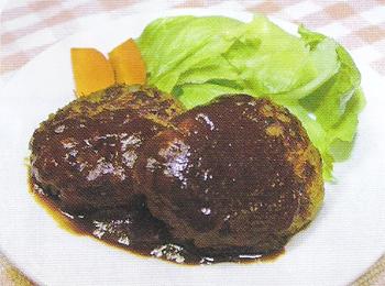 JAあわじ島の特産品レシピ「レタスとキャベツのやわらかバーグ」