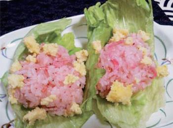 JAあわじ島の特産品レシピ「レタスで春色ご飯」