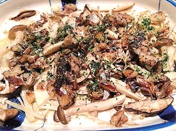 JAあわじ島の特産品レシピ「キノコのトースター焼き」