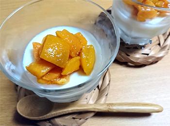 JAあわじ島の特産品レシピ「ビワの杏仁豆腐風」