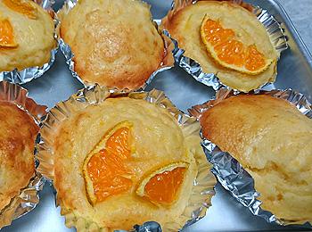 JAあわじ島の特産品レシピ「ミカンのカップケーキ」