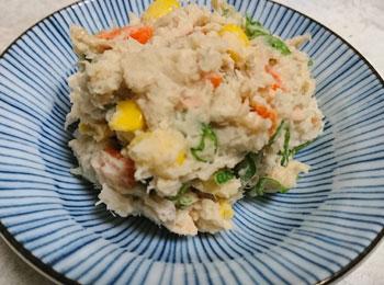 JAあわじ島の特産品レシピ「サトイモの和風サラダ」