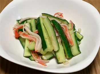 JAあわじ島の特産品レシピ「きゅうりのごま油炒め」