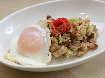 JAあわじ島の特産品レシピ「ゴロっと満足焼豚チャーハン」