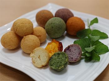 JAあわじ島の特産品レシピ「米粉と豆腐のイロいろドーナツ」