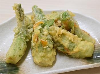 JAあわじ島の特産品レシピ「春を告げる子持ち高菜の天ぷら」