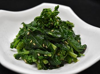 JAあわじ島の特産品レシピ「茎旨!のらぼう菜のおひたし」