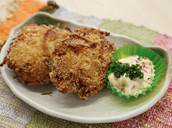 JAあわじ島の特産品レシピ「あっさり!鶏玉カツ」