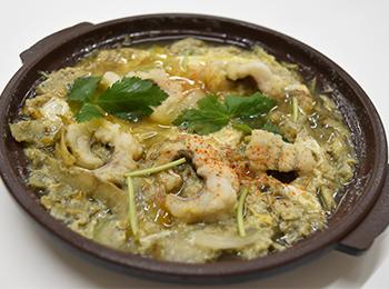 JAあわじ島の特産品レシピ「はもの柳川風鍋」