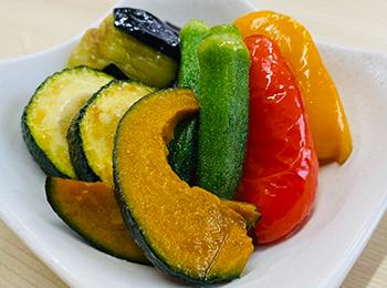 JAあわじ島の特産品レシピ「夏野菜の揚げびたし」