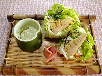 JAあわじ島の特産品レシピ「ちらし寿司のレタス包み レタスカップ」